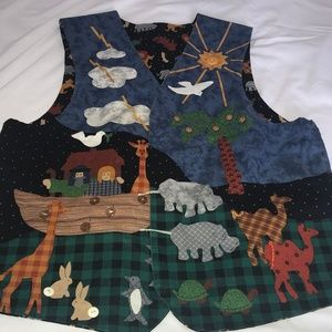 Noah's Ark Vest Handmade from the 1990's